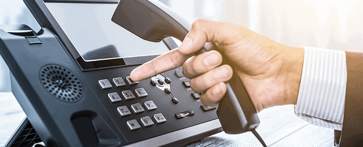 A VoIP Phone in use