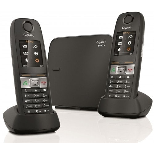 Image of a siemens gigaset e630a cordless landline telephone
