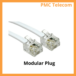 image of a telephone modular plug. PMC Telecom LTD