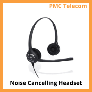 image of a noise cancelling headset. PMC Telecom LTD.