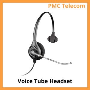Image of a voice tube headset. PMC Telecom LTD.