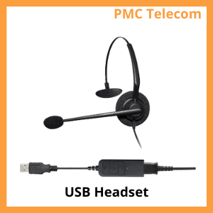 Image of a USB computer headset