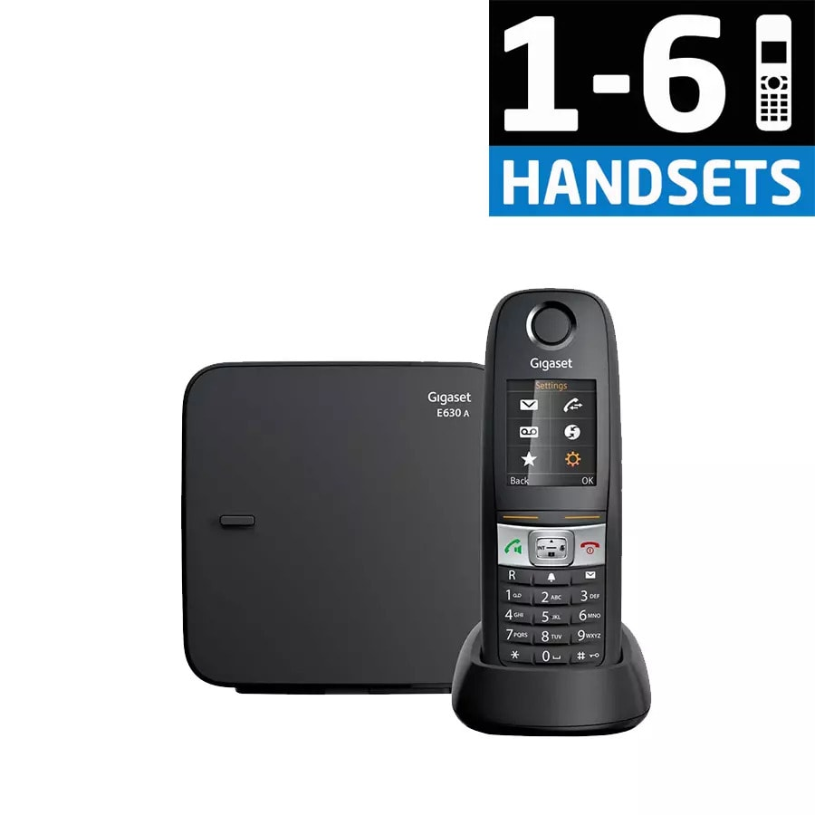 Gigaset E630A - Robust DECT Cordless Phone with Answering Machine