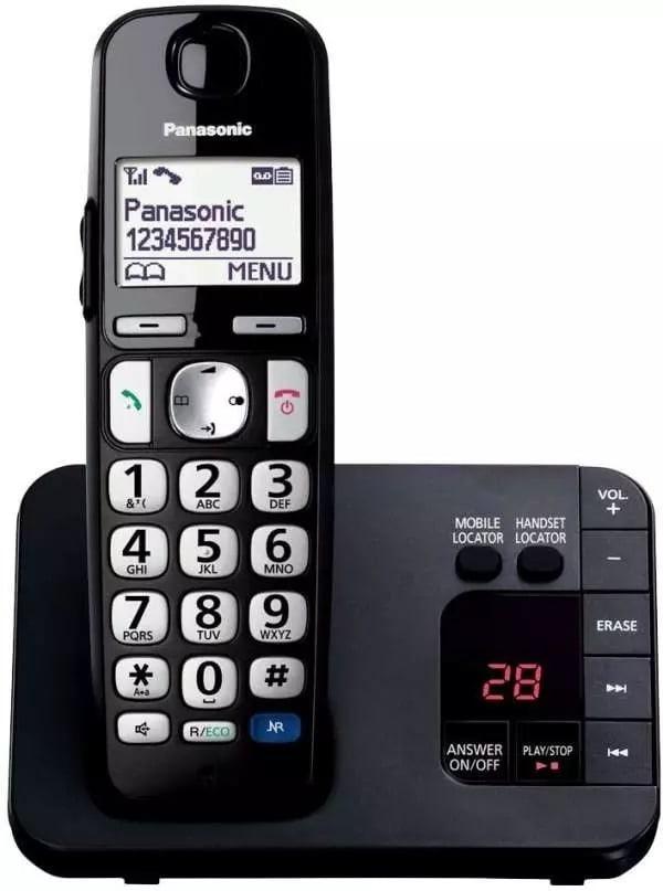 Panasonic KX-TGE720EB Big Button DECT Cordless Phone With Answering Machine