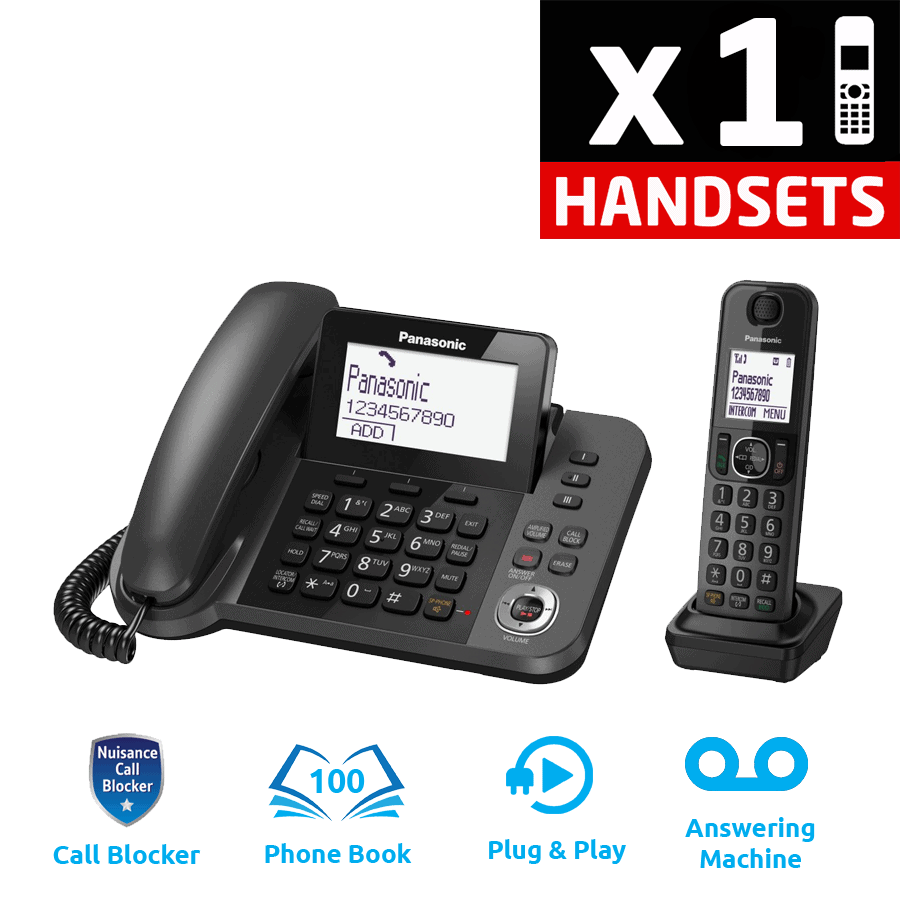 Panasonic KX-TGF320E Corded and Cordless DECT Phone with Answering Machine