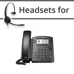 Headsets for Polycom Soundpoint VVX 301