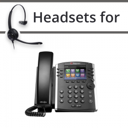 Headsets for Polycom Soundpoint VVX 411