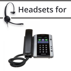 Headsets for Polycom Soundpoint VVX 501