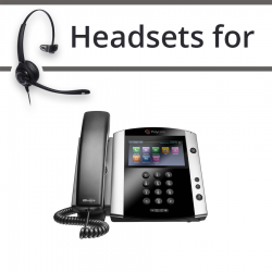 Headsets for Polycom Soundpoint VVX 601