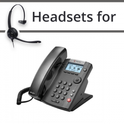 Headsets for Polycom Soundpoint VVX 201
