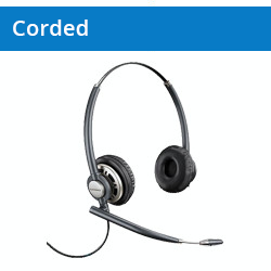 Corded Headsets for Telephones