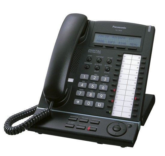 Standard dual port SIP telephone with large alphanumeric display