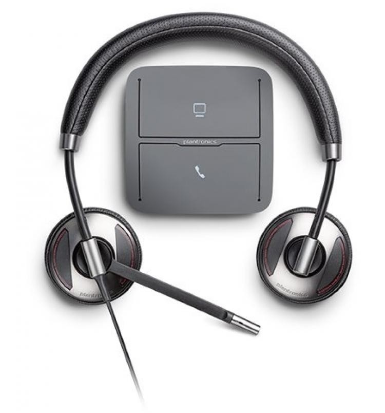 How do you connect a plantronics usb headset to a desk phone.