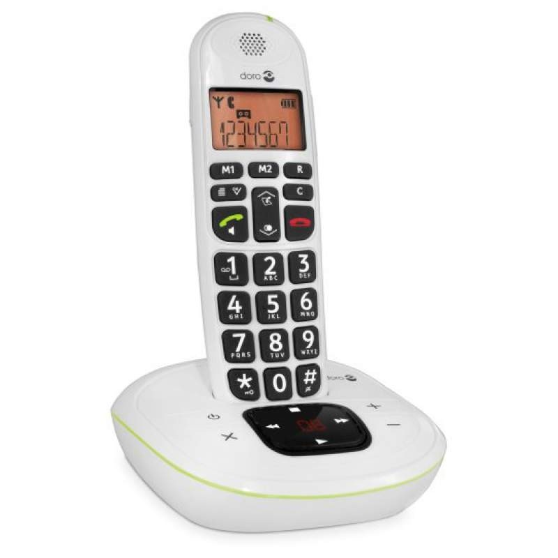 Doro PhoneEasy 105W DECT Cordless Phone With Answering Machine