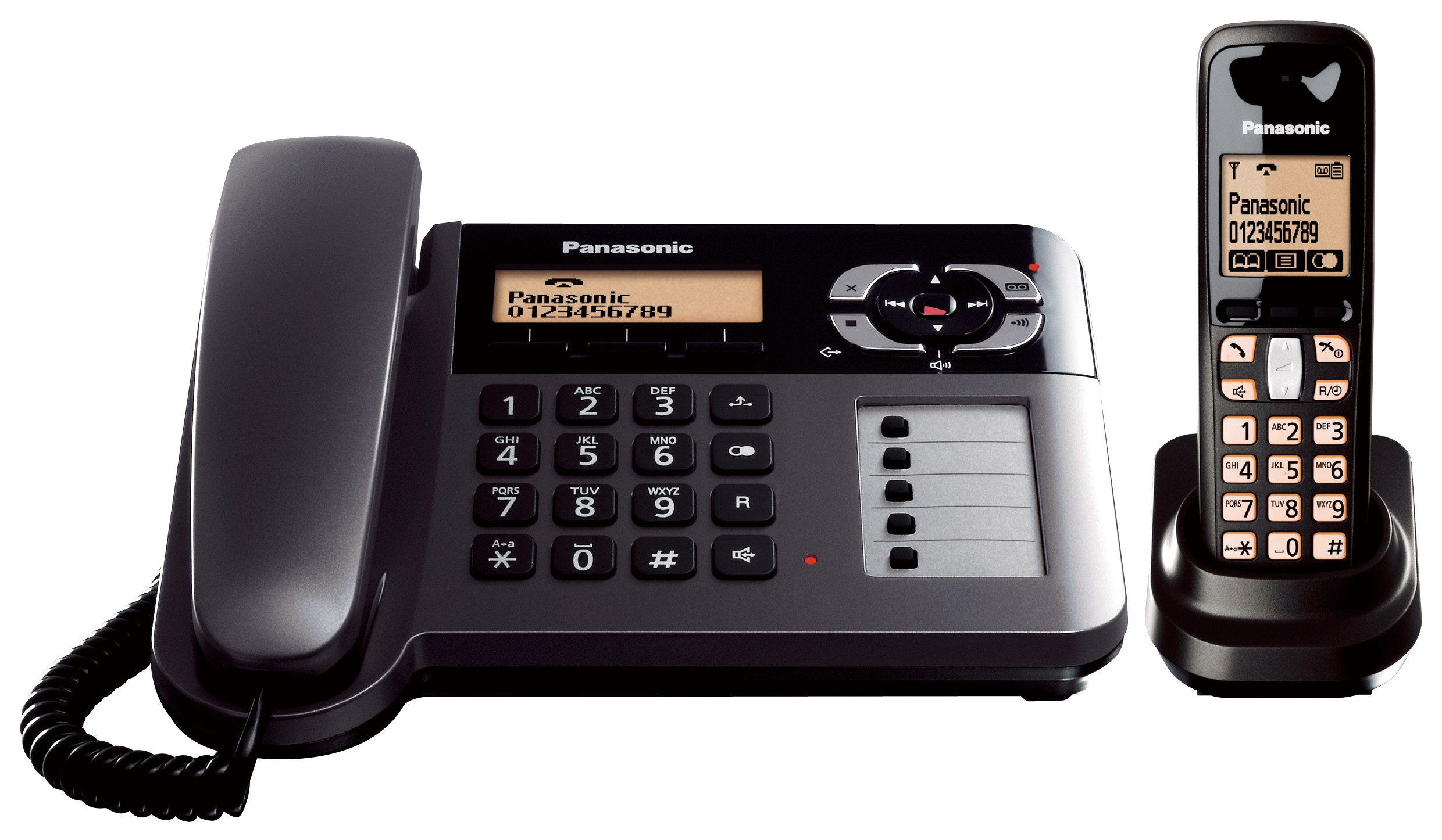 Panasonic KX-TG6461 ET Corded & Cordless DECT Phone With Answering Machine