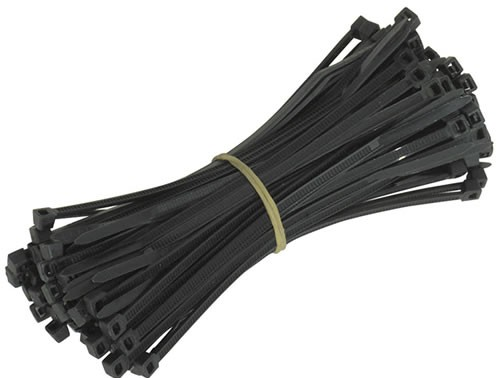 Standard Cable Ties (100 Pack) - 200mm Length - Black
