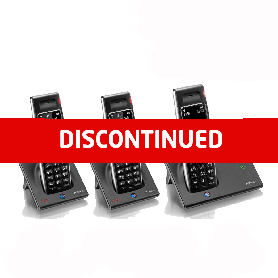 BT Diverse 7410 DECT Cordless Phone - Triple Pack