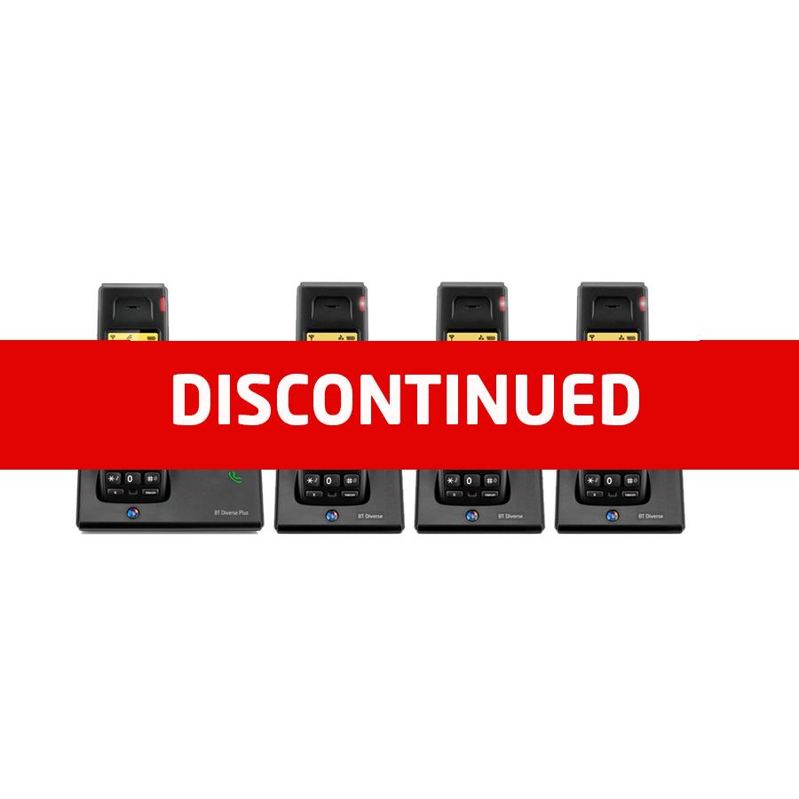 BT Diverse 7110 DECT Cordless Phone - Quad Packdisc