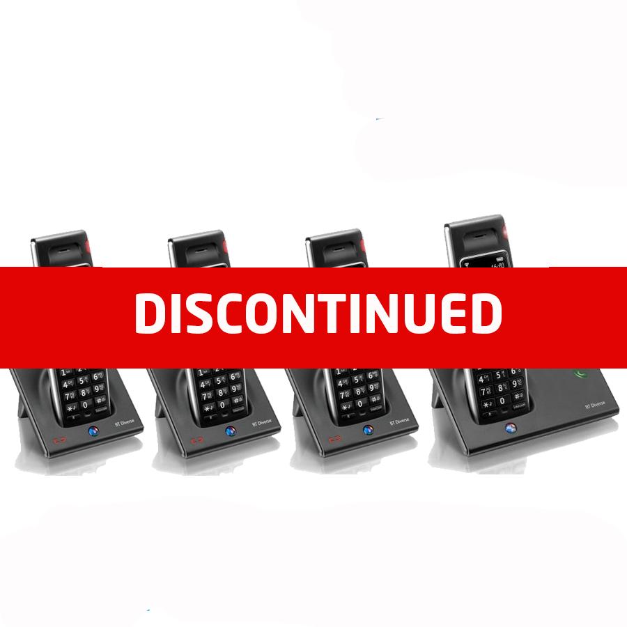 BT Diverse 7410 DECT Cordless Phone - Quad Pack