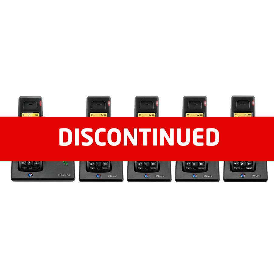 BT Diverse 7110 DECT Cordless Phone - Quint Packdisc