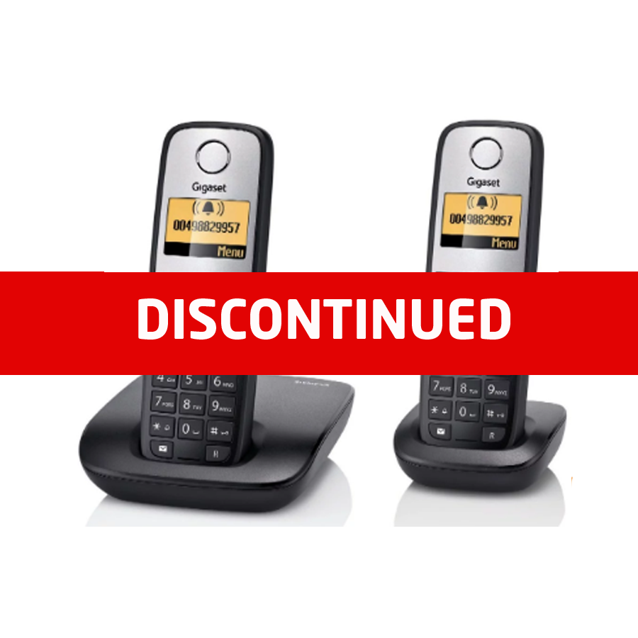 Siemens Gigaset A400 DECT Cordless Phone - Twin Pack