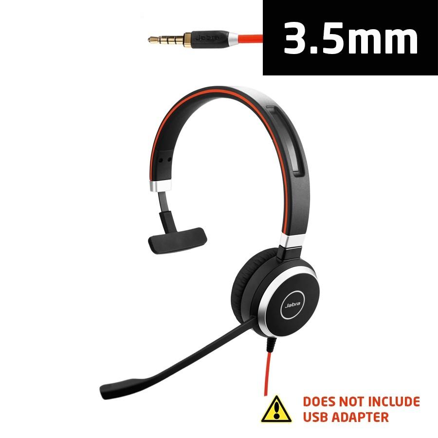 Jabra Evolve 40 UC Mono Headset with 3.5mm Jack