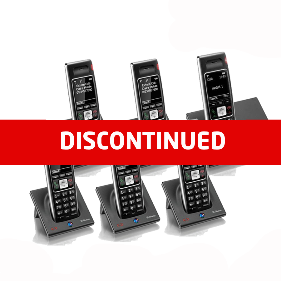 BT Diverse 7410 Plus DECT Cordless Phone - Sextet Pack