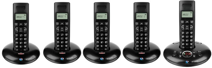 BT Graphite 1500 DECT Quint with Answering Machine