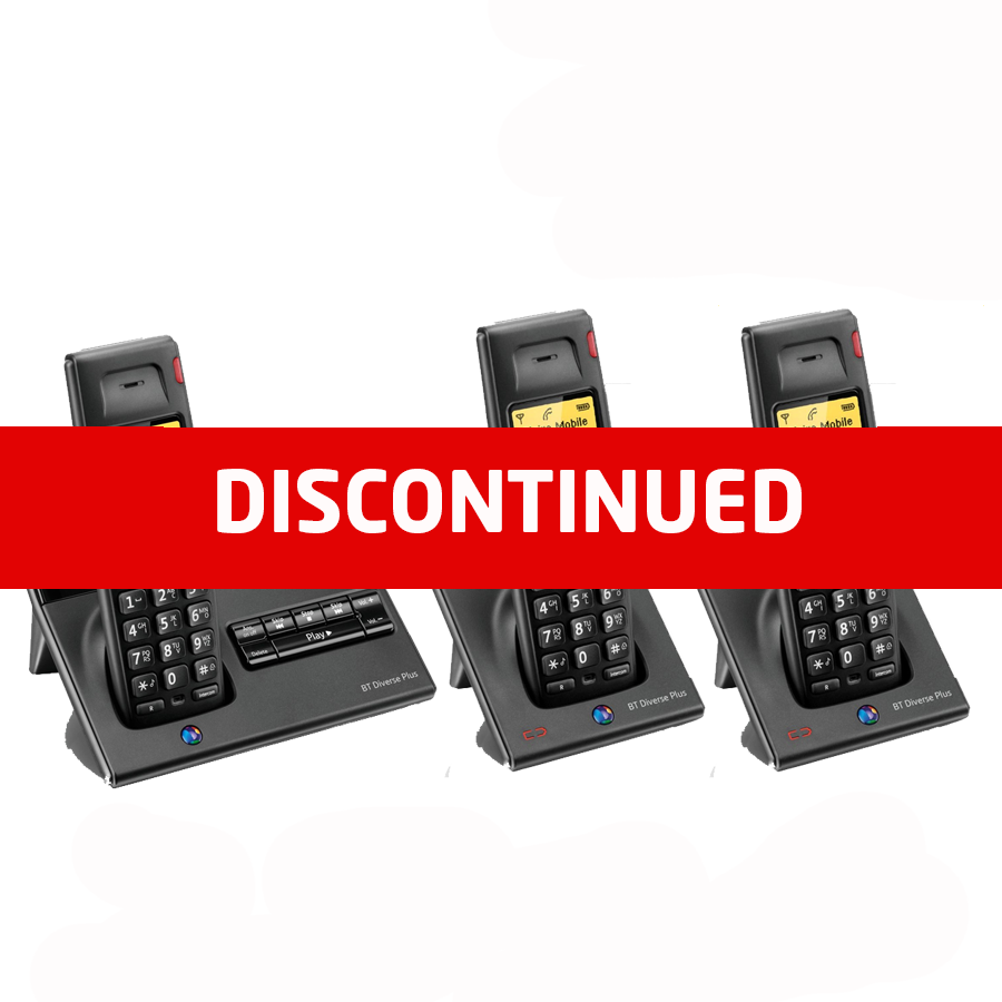 BT Diverse 7150 DECT Cordless Phone - Triple Pack