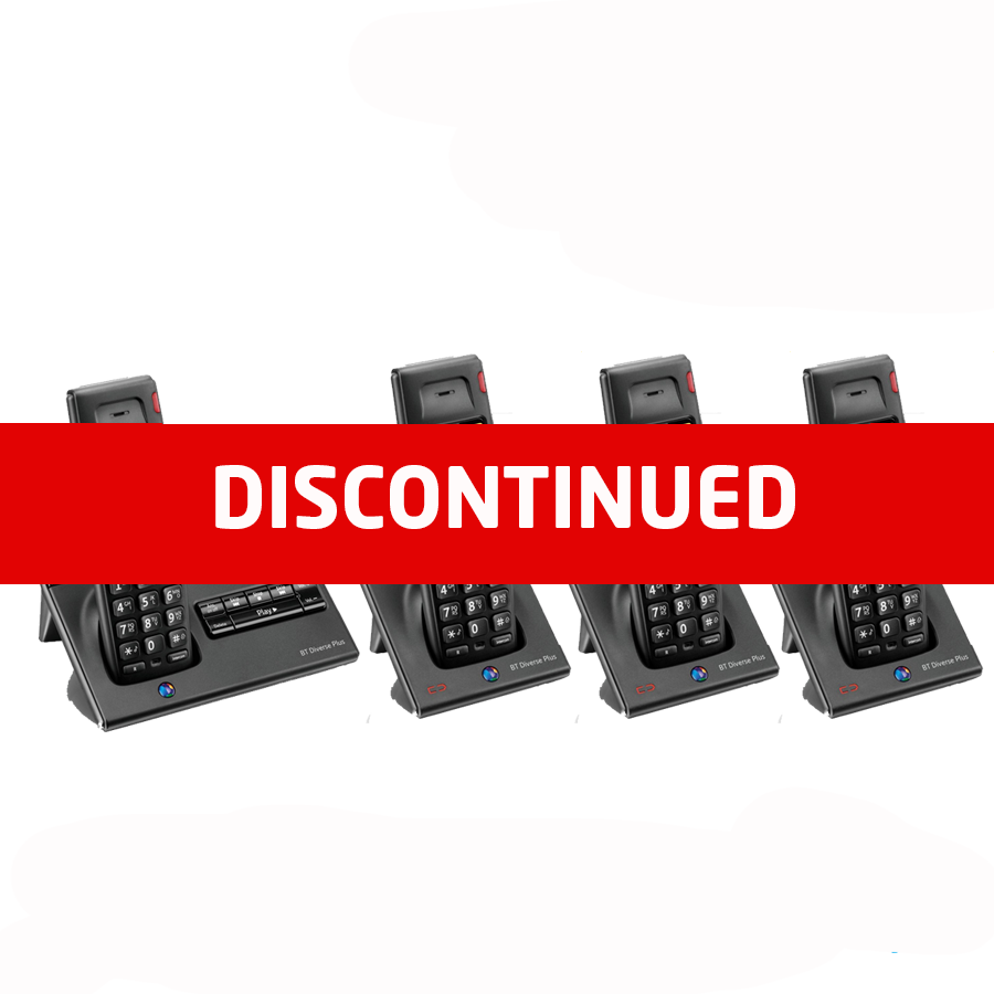BT Diverse 7150 DECT Cordless Phone - Quad Pack