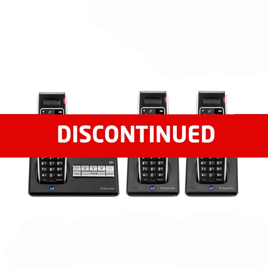 BT Diverse 7450 DECT Cordless Phone - Triple Pack