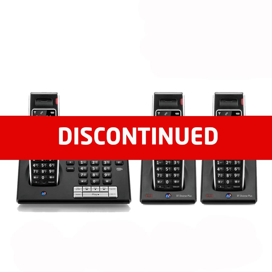 BT Diverse 7460 DECT Cordless Phone - Triple Pack