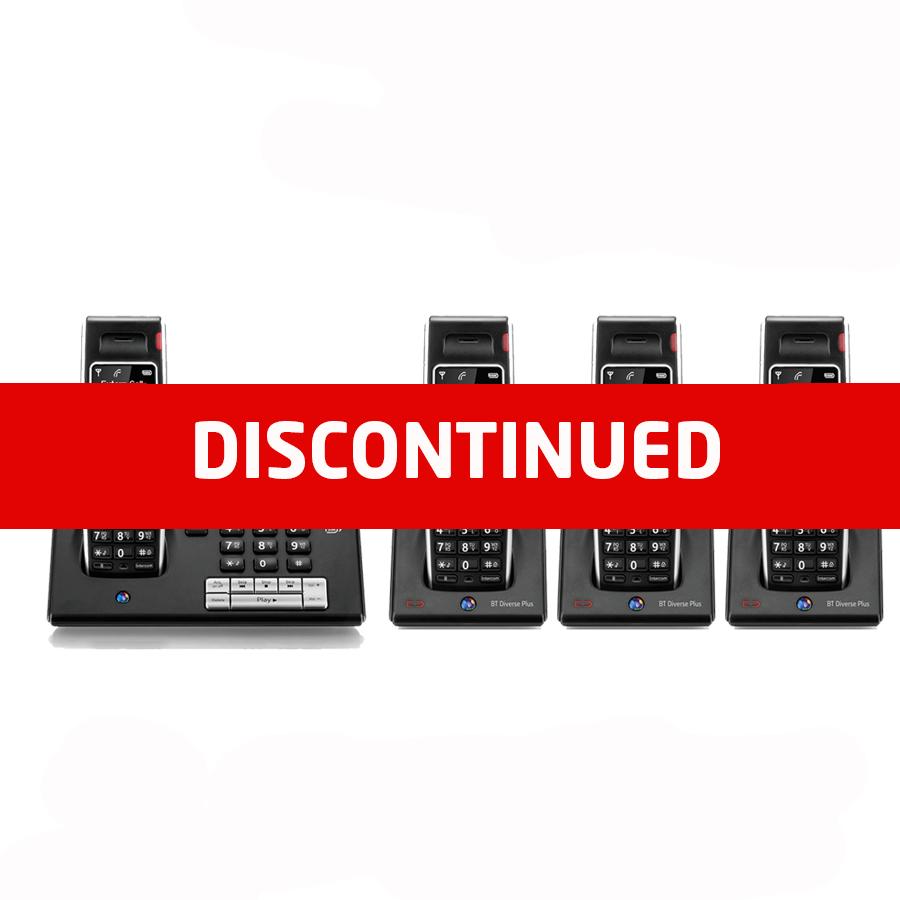 BT Diverse 7460 DECT Cordless Phone - Quad Pack