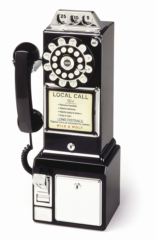 1950's American Diner Phone - Black