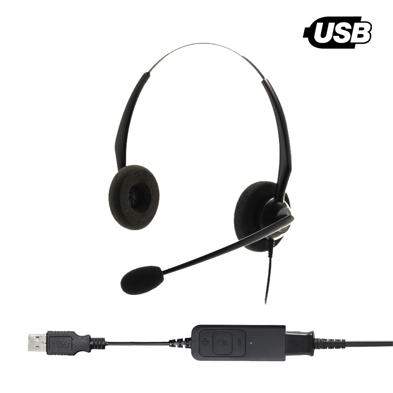 Tallium Entry Level Binaural Noise Cancelling USB Headset