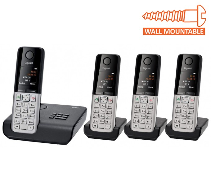 Siemens Gigaset C300A Cordless DECT Phone With Answering Machine - Quad Pack