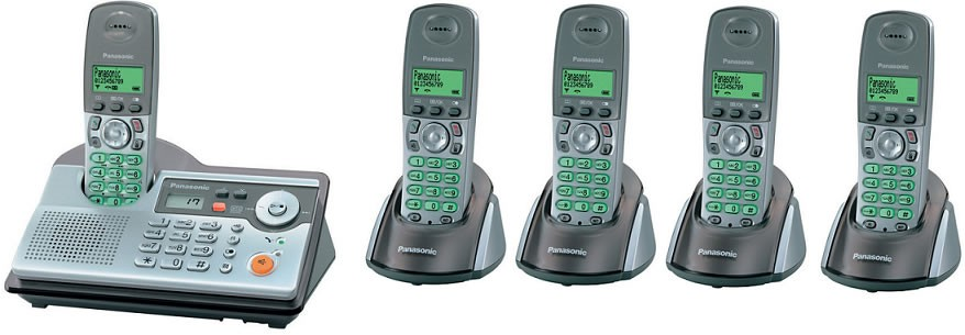 Panasonic KX-TCD240 Quint DECT Cordless Phone with Answering Machine