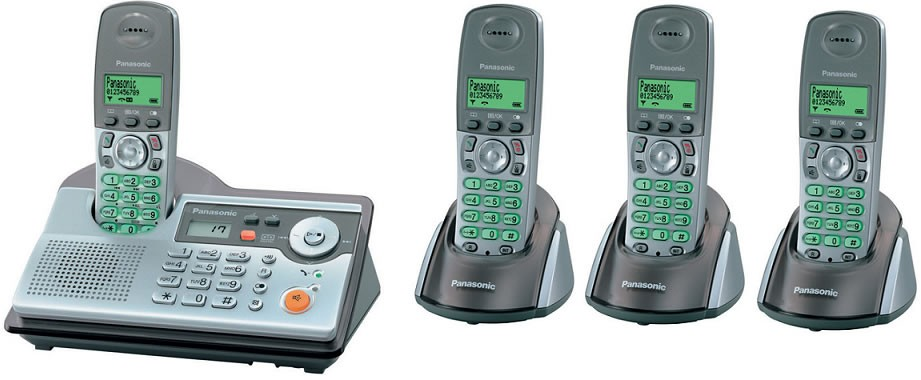 Panasonic KX-TCD240 Quad DECT Cordless Phone with Answering Machine