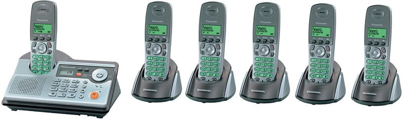 Panasonic KX-TCD240 Sixtet DECT Cordless Phone with Answering Machine