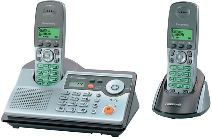 Panasonic KX-TCD240 DECT Twin Cordless Phone with Answering Machine
