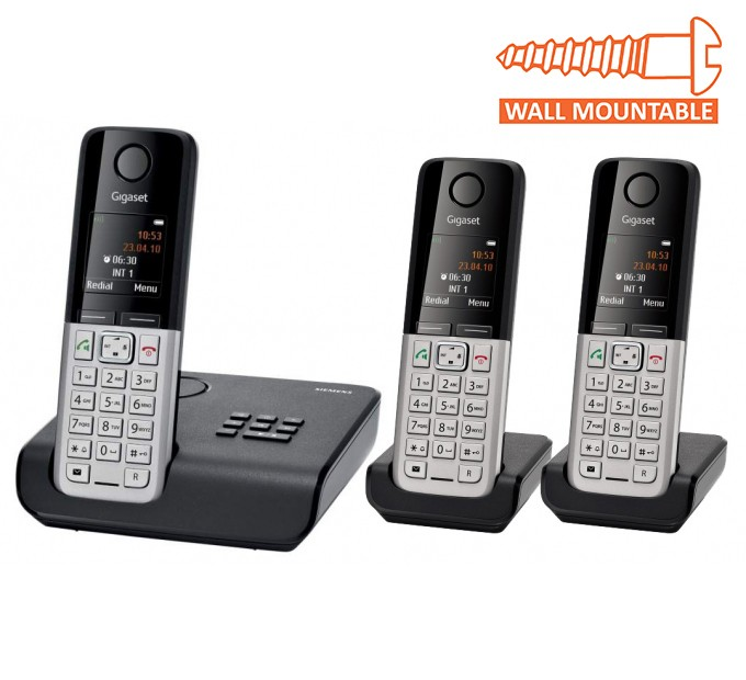 Siemens Gigaset C300A Cordless DECT Phone With Answering Machine - Triple Pack