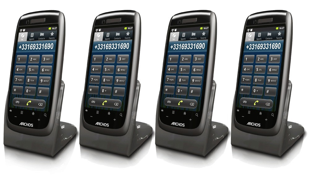 Archos 35 Smart DECT Android OS Home Phone - Quad