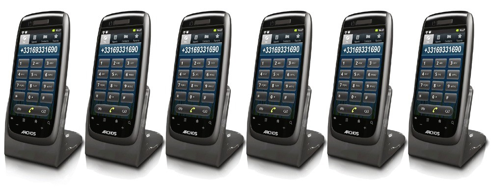 Archos 35 Smart DECT Android OS Home Phone - Sextet