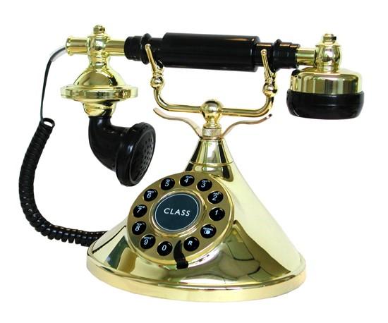 Lazerbuilt Mybelle Cherie Telephone - Black & Gold