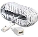 BT to BT 4 Way 3m Telephone Extension Lead