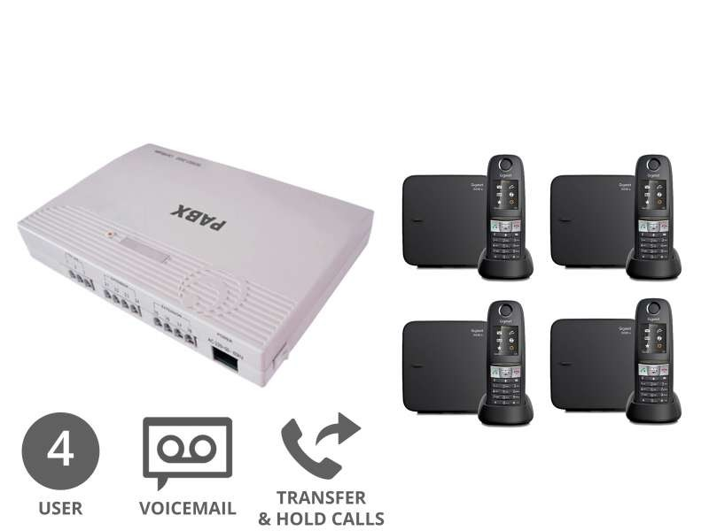 Robust Cordless Business Phone System & Voicemail Bundle for 4 Users