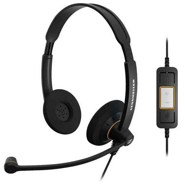 Sennheiser SC60 USB Control Binaural UC Headset