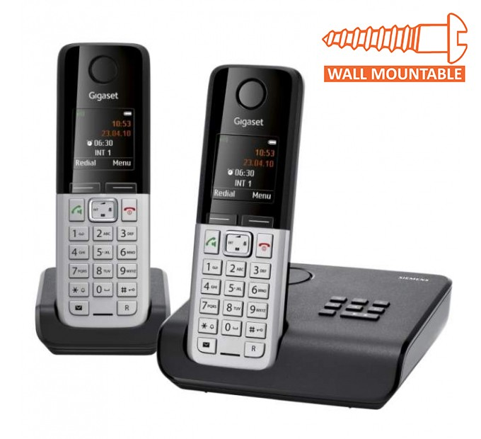 Siemens Gigaset C300A Cordless DECT Phone With Answering Machine - Twin Pack