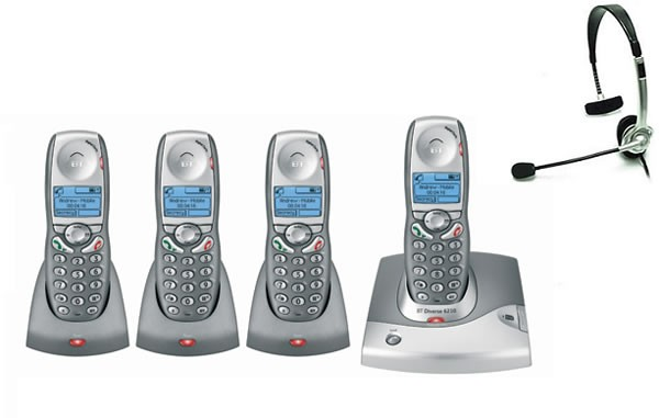 BT Diverse 6210 DECT Quad with FREE NRX Jack Headset