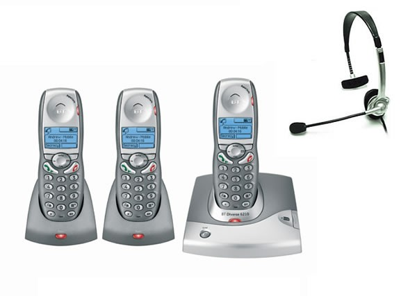 BT Diverse 6210 DECT Triple with FREE NRX Jack Headset